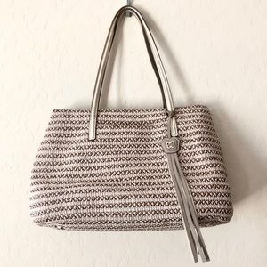 ERIC JAVITS Dame Brooke Squishee Woven tote purse